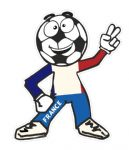 Novelty FOOTBALL HEAD MAN With France French Flag Motif For Football Soccer Team Supporter Vinyl Car Sticker 100x85mm
